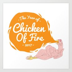 Chicken Of Fire Year Art Print