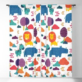 Cute Animals Pattern Print Blackout Curtain