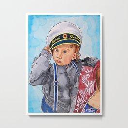 Little Captain Metal Print