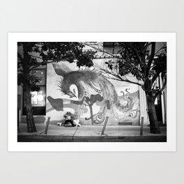 Chinatown Bird Art Serenity Art Print