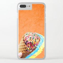 rainbow sprinkles always Clear iPhone Case