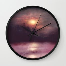 Hope in the pink water Wall Clock