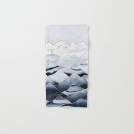 Mountains 2 - Gold Colored Lines Hand & Bath Towel