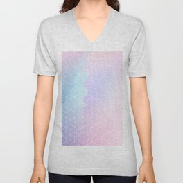 Geometric pastel vibes pattern 1 #pattern #decor #abstractart Unisex V-Neck