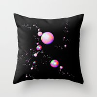 planets Throw Pillows featuring Planets by Brian Raggatt