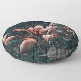 Pink Flamingos Floor Pillow