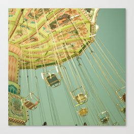 Swingin' IV Fair Carnival Swings Ride Amusement Park Rainbow Whimsical Fun Canvas Print