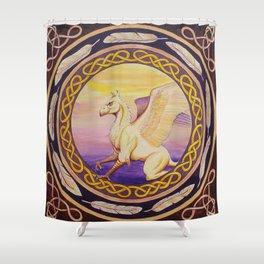 The Guardian - Celtic Griffin mandala Shower Curtain