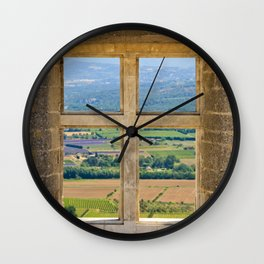 Window To The Luberon Wall Clock