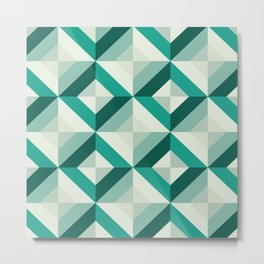 Emerald (Geometric pattern series) Metal Print