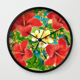 tropical color party  Wall Clock