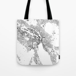 Zurich Schwarzplan Map Only Buildings Tote Bag