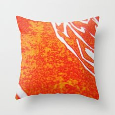 Peacock of Fire Throw Pillow