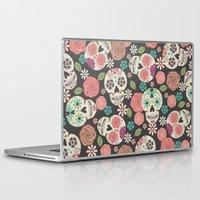 sugar skulls Laptop & iPad Skins featuring Sugar Skulls by Bohemian Gypsy Jane