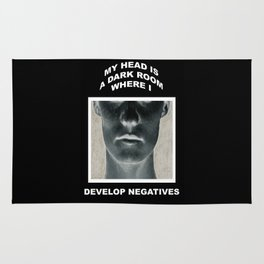 My head is a dark room, where I develop negatives. Rug