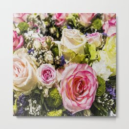 Shabby Roses Metal Print