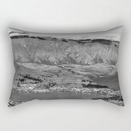 Clouds over the mountains Rectangular Pillow