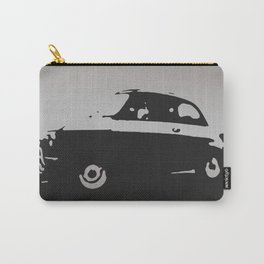Fiat 500 classic, Gray on Black Carry-All Pouch