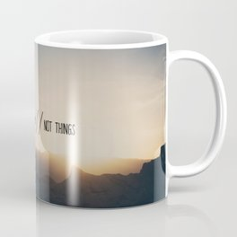 collect moments // not things Coffee Mug