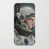 interstellar iPhone & iPod Cases featuring Interstellar by San Fernandez
