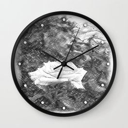 Pink Roses in Anzures 5 Charcoal Wall Clock