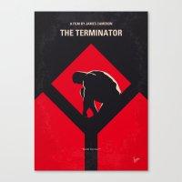 No802-1 My The Terminator 1 minimal movie poster Canvas Print