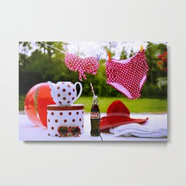Coca Cola Summer Metal Print