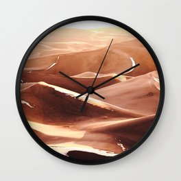 Cold Dunes Wall Clock