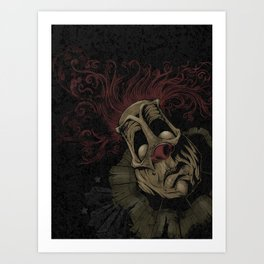 Dark Clown Art Print