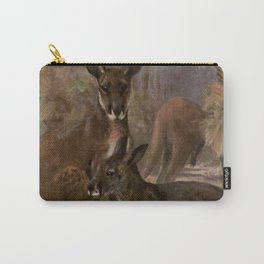 Vintage Kangaroo Painting (1909) Carry-All Pouch