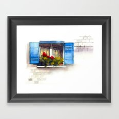 Red Geraniums Framed Art Print