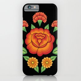 Mexican Folk Pattern – Tehuantepec Huipil flower embroidery iPhone Case
