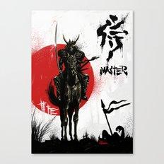 Samurai Master Canvas Print