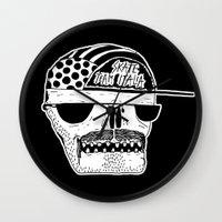 italian Wall Clocks featuring Italian Skull  by Mr. JJ