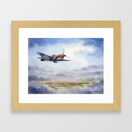 P-40 Warhawk Aircraft Framed Art Print