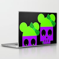 minnie Laptop & iPad Skins featuring MINNIE SKULL by Riot Clothing