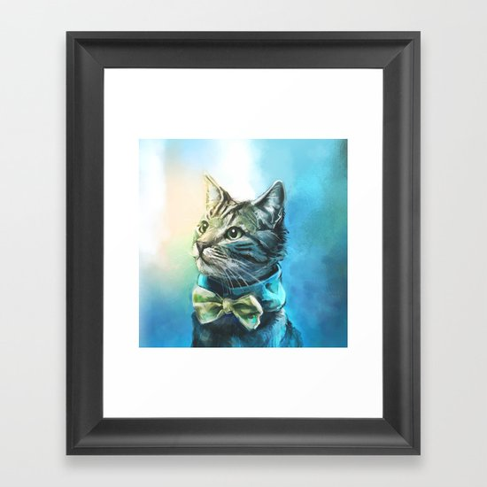 Handsome Cat Framed Art Print
