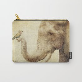 A New Friend (sepia drawing) Carry-All Pouch