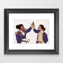 Immigrants - we get the job done Framed Art Print