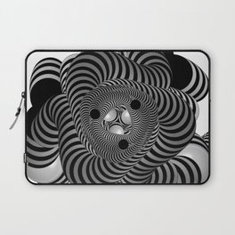 Black and White Abstract Design Laptop Sleeve