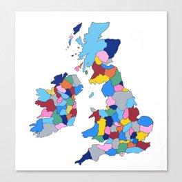 England, Ireland, Scotland & Wales Canvas Print