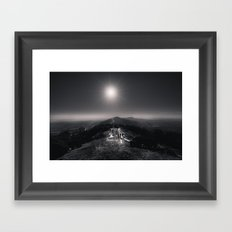 Standing on a Mountain - Black and White Collection Framed Art Print