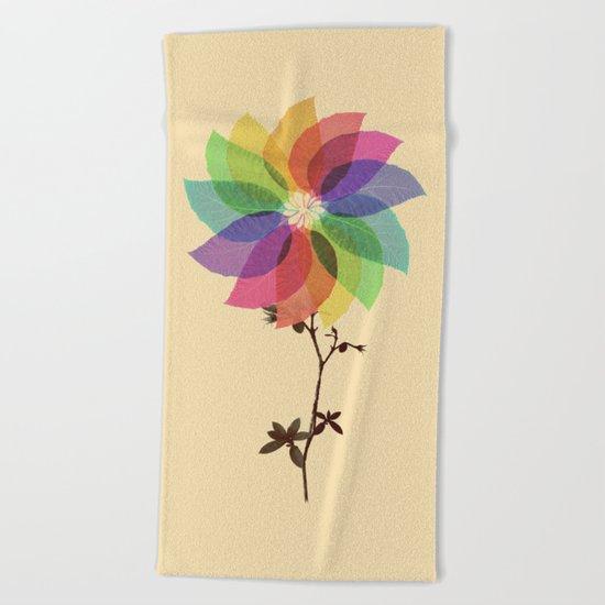 The windmill in my mind Beach Towel