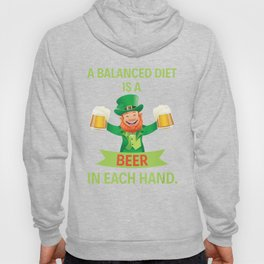 Funny A Balanced Diet Is A Beer In Each Hand Gift Hoody