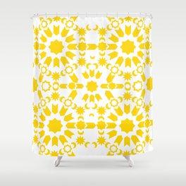 Golden Arabesque Shower Curtain
