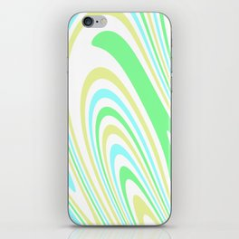 Blue, Yellow, and Green Waves 2 iPhone Skin