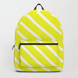 Lemon Curd Diagonal Stripes Backpack