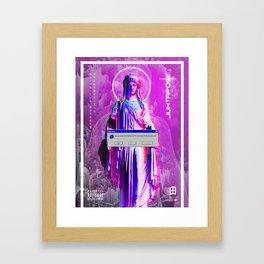 Vaporwave Religious Framed Art Print