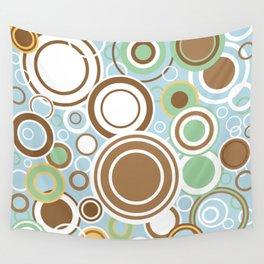 Retro Circles Wall Tapestry