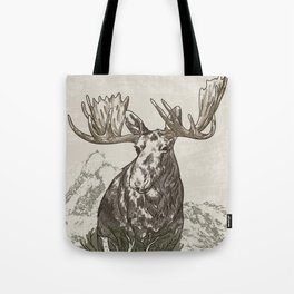 Guardian of the Hinterland (moose) Tote Bag